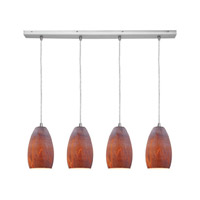 Access Lighting Inari Silk 4 Light Maxi Pendant in Brushed Steel 52712-BS/AZT photo thumbnail