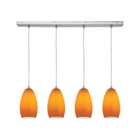 Access Lighting Inari Silk 4 Light Maxi Pendant in Brushed Steel 52712-BS/MYA photo thumbnail