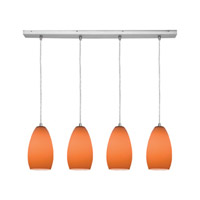 Access Lighting Inari Silk 4 Light Maxi Pendant in Brushed Steel 52712-BS/ORG photo thumbnail
