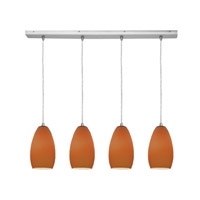 Access Lighting Inari Silk 4 Light Maxi Pendant in Brushed Steel 52712-BS/PLM photo thumbnail