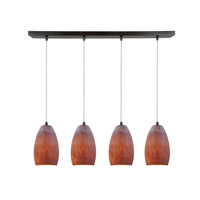 Access Lighting Inari Silk 4 Light Maxi Pendant in Oil Rubbed Bronze 52712-ORB/AZT photo thumbnail