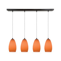 Access Lighting Inari Silk 4 Light Maxi Pendant in Oil Rubbed Bronze 52712-ORB/ORG photo thumbnail
