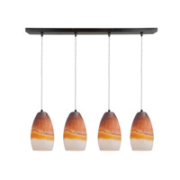 Access Lighting Inari Silk 4 Light Maxi Pendant in Oil Rubbed Bronze 52712-ORB/TRA photo thumbnail