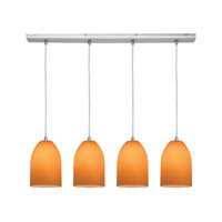 Access Lighting Inari Silk 4 Light Maxi Pendant in Brushed Steel 52718-BS/AMB photo thumbnail