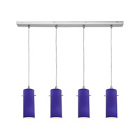 Access Lighting Inari Silk 4 Light Maxi Pendant in Brushed Steel 52730-BS/COB photo thumbnail