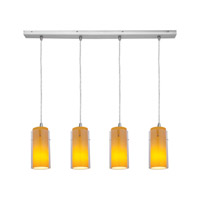 Access Lighting Glass in Glass 4 Light Maxi Pendant in Brushed Steel 52733-BS/CLAM photo thumbnail