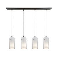 Access Lighting Glass in Glass 4 Light Maxi Pendant in Oil Rubbed Bronze 52733-ORB/CLOP photo thumbnail