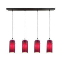 Access Lighting Glass in Glass 4 Light Maxi Pendant in Oil Rubbed Bronze 52733-ORB/PLOP photo thumbnail