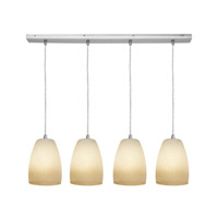 Access Lighting Inari Silk 4 Light Maxi Pendant in Brushed Steel 52759-BS/FRA photo thumbnail