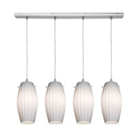 Access Lighting Fleur 4 Light Maxi Pendant in Brushed Steel 52776-BS/OPL photo thumbnail