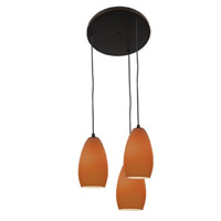 Access Lighting Inari Silk 3 Light Maxi Pendant in Oil Rubbed Bronze 52812-ORB/PLM photo thumbnail