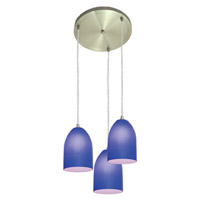 Access Lighting Inari Silk 3 Light Maxi Pendant in Brushed Steel 52818-BS/COB photo thumbnail