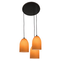 Access Lighting Inari Silk 3 Light Maxi Pendant in Oil Rubbed Bronze 52818-ORB/AMB photo thumbnail