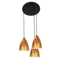 Access Lighting Safari 3 Light Maxi Pendant in Oil Rubbed Bronze 52825-ORB/AMZ photo thumbnail
