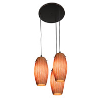 Access Lighting Fleur 3 Light Maxi Pendant in Oil Rubbed Bronze 52876-ORB/AMM photo thumbnail