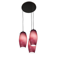 Access Lighting Fleur 3 Light Maxi Pendant in Oil Rubbed Bronze 52876-ORB/PLM photo thumbnail