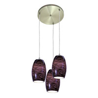 Access Lighting Swirl 3 Light Maxi Pendant in Brushed Steel 52878-BS/PLS photo thumbnail