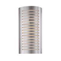 Krypton 2 Light 8 inch Brushed Steel Vanity Wall Light in 8.25