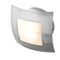 Access Lighting Argon 1 Light Flush Mount in Brushed Steel 53342-BS/OPL
