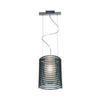 Enzo 1 Light 10 inch Chrome Pendant Ceiling Light in Smoked Acrylic