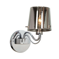 Access Lighting Milano 1 Light Wall Fixture in Chrome with CHR Glass 55530-CH/CHR