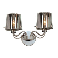 Access Lighting Milano 2 Light Wall Fixture in Chrome with CHR Glass 55531-CH/CHR