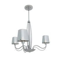 Milano 3 Light 26 inch Chrome Chandelier Ceiling Light