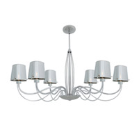Milano 6 Light 33 inch Chrome Chandelier Ceiling Light