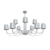 Access Lighting Milano 9 Light Chandelier in Chrome with CHR Glass 55534-CH/CHR