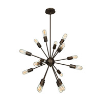Flux 16 Light 30 inch Bronze Pendant Ceiling Light