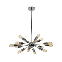 Flux 16 Light 30 inch Chrome Pendant Ceiling Light