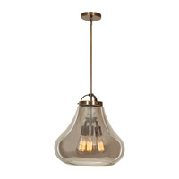 Flux 3 Light 15 inch Dark Bronze Pendant Ceiling Light in Smoke