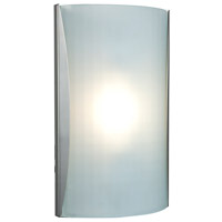 Access 62050-BS/CKF Radon 1 Light 9 inch Brushed Steel ADA Sconce Wall Light in Checkered Frosted Incandescent
