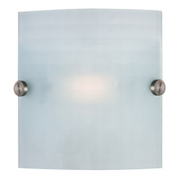 Radon 1 Light 8 inch Brushed Steel Vanity Wall Light