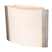Access Lighting Sulphur 2 Light Sconce in Brushed Steel 62056-BS/OPL photo thumbnail