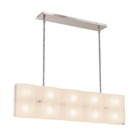 Access Lighting Mercury 10 Light Pendant in Brushed Steel 62071-BS/FST photo thumbnail