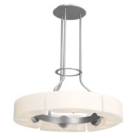 Access Lighting Boron 6 Light Chandelier in Brushed Steel 62226-BS/OPL photo thumbnail