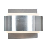 Access Lighting Iriduim 1 Light Metal and Glass Wall/Vanity in Brushed Steel with Frosted Glass 62268-BS/FST