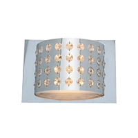 Access Lighting Aura 1 Light Crystal and Chrome Wall/Vanity in Chrome with Crystal Accents Glass 62273-CH/CRY