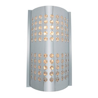 Access Lighting Aura 2 Light Crystal and Chrome Wall/Vanity in Chrome with Crystal Accents Glass 62274-CH/CRY