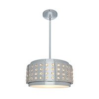 Access Lighting Aura 2 Light Crystal and Chrome Pendant in Chrome with Crystal Accents Glass 62278-CH/CRY