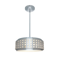 Access Lighting Aura 2 Light Crystal and Chrome Pendant in Chrome with Crystal Accents Glass 62279-CH/CRY
