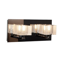 Access 62281-CH/CLFR Sophie 2 Light 11 inch Chrome Vanity Light Wall Light