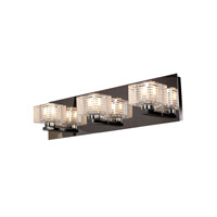 Access 62282-CH/CLFR Sophie 3 Light 19 inch Chrome Vanity Light Wall Light in  18.75 inch photo thumbnail
