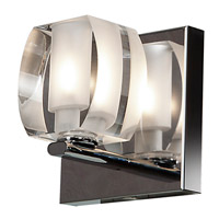 Evia LED 5 inch Chrome Vanity Light Wall Light