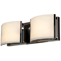 Access 62292-BS/OPL Nitro 2 2 Light 16 inch Brushed Steel Vanity Light Wall Light