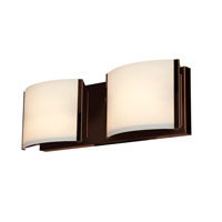 Access 62292LEDD-BS/OPL Nitro (2) LED 16 inch Brushed Steel Vanity Light Wall Light photo thumbnail