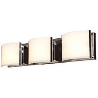 Access 62293-BS/OPL Nitro 2 3 Light 25 inch Brushed Steel Vanity Light Wall Light in 25.2 inch