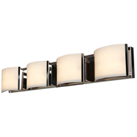 Access 62294-BS/OPL Nitro 2 4 Light 34 inch Brushed Steel Vanity Light Wall Light in 34.25 inch