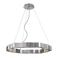 Titanium 6 Light 28 inch Brushed Steel Chandelier Ceiling Light
